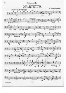 Струнный квартет No.8 си-бемоль мажор, D.112 Op.168: Партия виолончели by Франц Шуберт