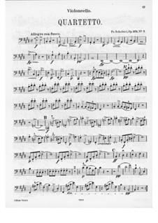 Струнный квартет No.11 ми мажор, D.353 Op.125 No.2: Партия виолончели by Франц Шуберт