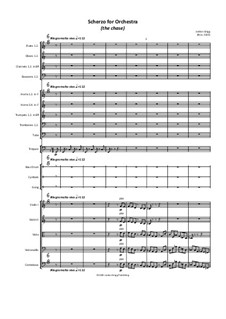Scherzo for Orchestra (the chase): Scherzo for Orchestra (the chase) by Jordan Grigg