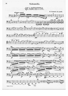 Струнный квартет No.12 до минор, D.703: Партия виолончели by Франц Шуберт