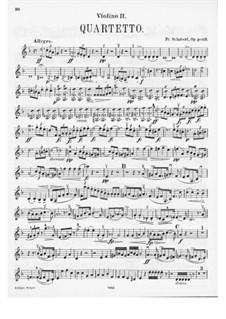 Струнный квартет No.14 ре минор 'Смерть и девушка', D.810: Партия II скрипки by Франц Шуберт