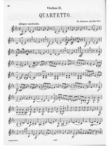 Струнный квартет No.10 ми-бемоль мажор, D.87 Op.125 No.1: Скрипка II by Франц Шуберт