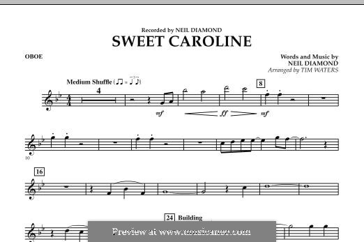 Sweet Caroline: Oboe part (arr. Tim Waters) by Neil Diamond