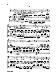 No.8 О, если б цветы угадали: Клавир с вокальной партией by Роберт Шуман