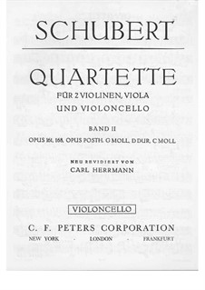 Струнный квартет No.15 соль мажор, D.887 Op.161: Партия виолончели by Франц Шуберт