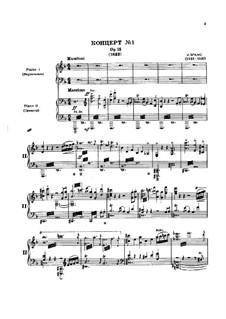 Концерт для фортепиано с оркестром No.1 ре минор, Op.15: Версия для двух фортепиано в 4 руки by Иоганнес Брамс