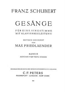 Песни для голоса и фортепиано: Сборник II by Франц Шуберт