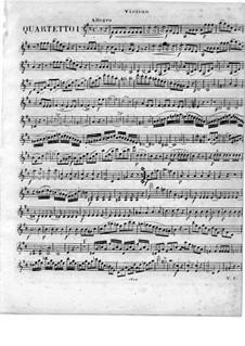 Квартеты для флейты и струнных, Op.51: No.1-3, Партия скрипки by Георг Абрахам Шнайдер