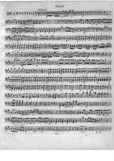 Квартеты для флейты и струнных, Op.51: No.1-3, Партия альта by Георг Абрахам Шнайдер