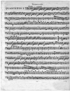 Квартеты для флейты и струнных, Op.51: No.1-3, Партия виолончели by Георг Абрахам Шнайдер