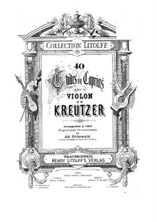 Сорок два этюда или каприса: Весрия для двух скрипок – Партия второй скрипки by Родольф Крейцер