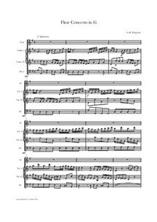 Концерт для флейты с оркестром соль мажор : Score, parts by Джованни Баттиста Перголези