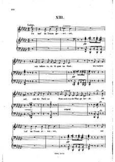 No.13 Во сне я горько плакал: Клавир с вокальной партией by Роберт Шуман