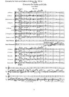 Концерт для скрипки, виолончели с оркестром ля минор, Op.102: Партитура by Иоганнес Брамс