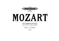 Все части: Переложение для двух фортепиано в восемь рук – партия II фортепиано by Вольфганг Амадей Моцарт