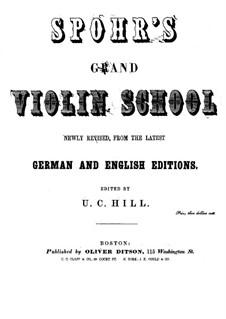 Школа игры на скрипке: Английская версия by Луи Шпор
