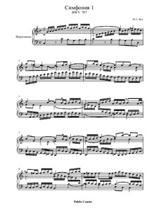No.1 до мажор, BWV 787: Для фортепиано by Иоганн Себастьян Бах
