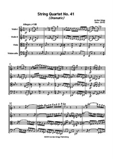 String Quartet No.41 (Dramatic): String Quartet No.41 (Dramatic) by Jordan Grigg