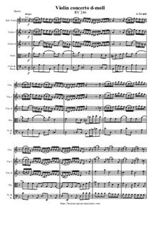 Violin Concerto d-moll - Score & Parts, RV 246: Violin Concerto d-moll - Score & Parts by Антонио Вивальди