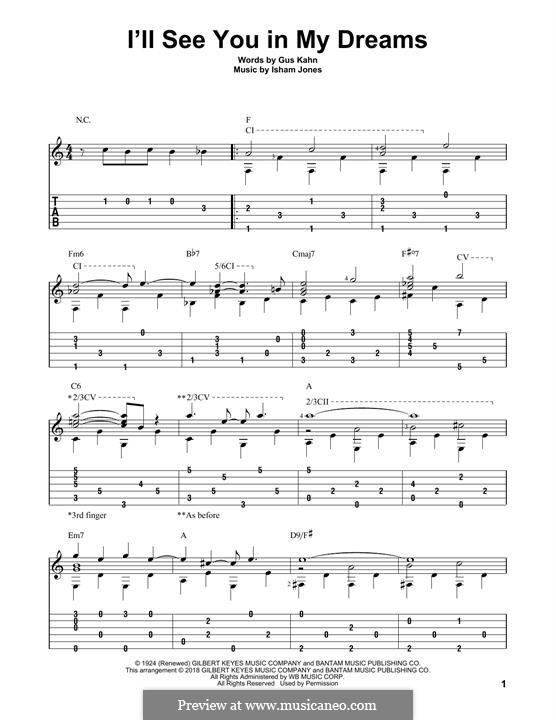I'll See You in My Dreams: Для гитары by Isham Jones