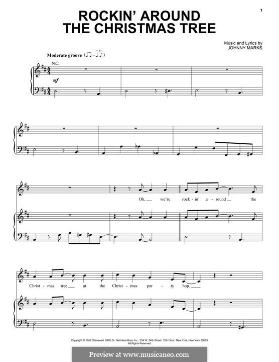 Rockin' Around the Christmas Tree: For voice and piano or guitar (Pentatonix) by Johnny Marks