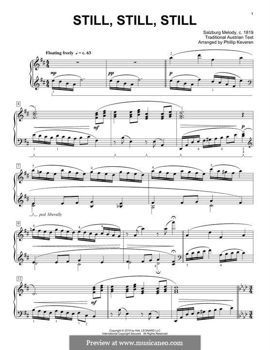 Still, Still, Still: For easy piano (classical version) by folklore