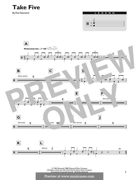 Take Five (Dave Brubeck): Drum set by Paul Desmond