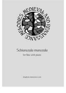Schiarazula marazula: Для флейты и фортепиано by Джорджо Майнерио