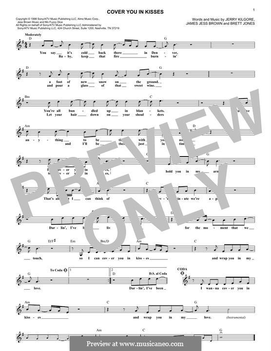 Cover You in Kisses: Мелодия by Brett Jones, James Jess Brown, Jerry Kilgore