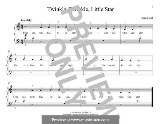 Twinkle, Twinkle Little Star: Для фортепиано by folklore