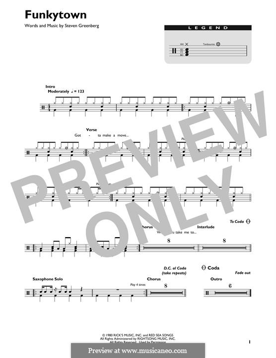 Funkytown (Lipps Inc.): Drum set by Steven Greenberg