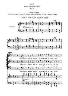 Жанна д'Арк: Акт II, для солистов, хора и фортепиано by Джузеппе Верди