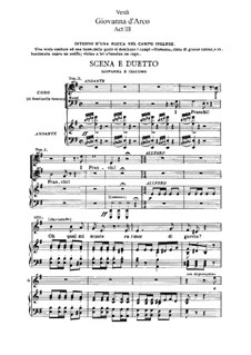 Жанна д'Арк: Акт III, для солистов, хора и фортепиано by Джузеппе Верди