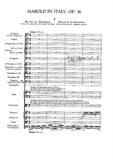 Гарольд в Италии, H.68 Op.16: Партитура by Гектор Берлиоз
