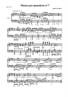 Musica per pianoforte No.7: Musica per pianoforte No.7 by Helios D'Andrea