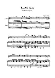 Элегия, Op.24: Для флейты и фортепиано by Габриэль Форе
