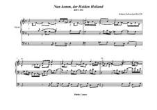 Nun komm, der Heiden Heiland, BWV 599: Für Orgel by Иоганн Себастьян Бах