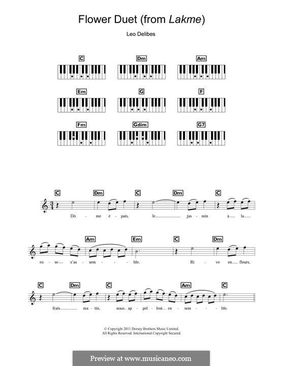 The Flower Duet: Для фортепиано by Лео Делиб