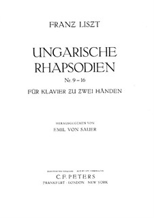 No.9 ми-бемоль мажор, S.244: Для фортепиано by Франц Лист
