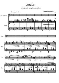Сборник произведений для саксофона альта в сопровождении фортепиано 'Сказочный мир музыки': No.1 Грустная Эльза by Vladimir Solonskiy
