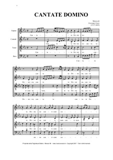 Cantate Domino: For SATB choir by Джованни Кроче
