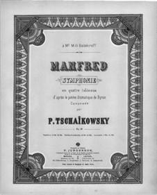 Симфония 'Манфред', TH 28 Op.58: Для двух фортепиано в 4 руки by Петр Чайковский