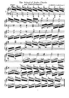 The School of Scales, Chords and Embellishments, Op.88: Все этюды by Иоганн Германн Беренс