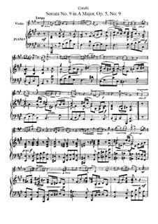 Соната No.9: Аранжировка для скрипки и фортепиано by Арканджело Корелли