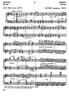 Соната для фортепиано No.8 ми-бемоль мажор, D.568 Op.122: Для одного исполнителя by Франц Шуберт