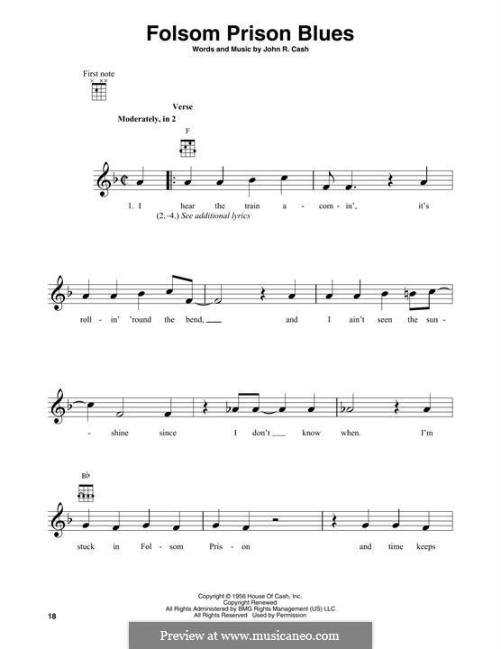 Folsom Prison Blues: Мелодия by Johnny Cash