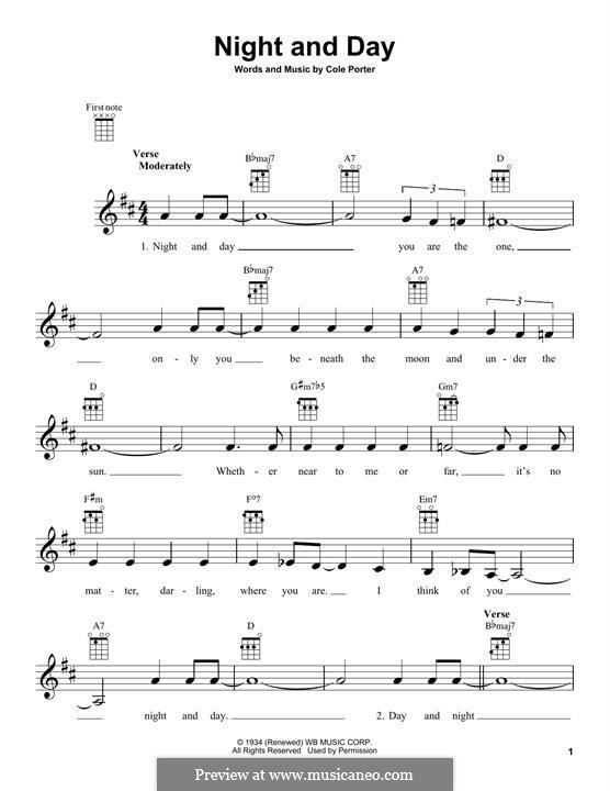 Night and Day (Frank Sinatra): Для укулеле by Кол Портер