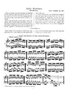 Ежедневные упражнения, Op.337: Ежедневные упражнения by Карл Черни