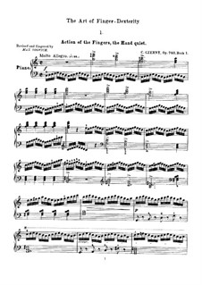 Искусство беглости пальцев, Op.740: Упражнения No.1-16 by Карл Черни
