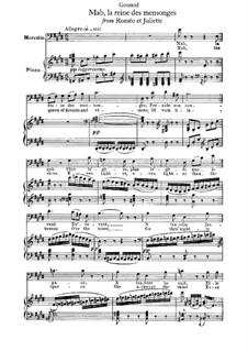 Ромео и Джульетта: Mab, la reine des mensonges, for Voice and Piano by Шарль Гуно